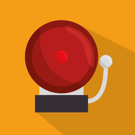 ring tones: doorbell school ring icon vector illustration Illustration
