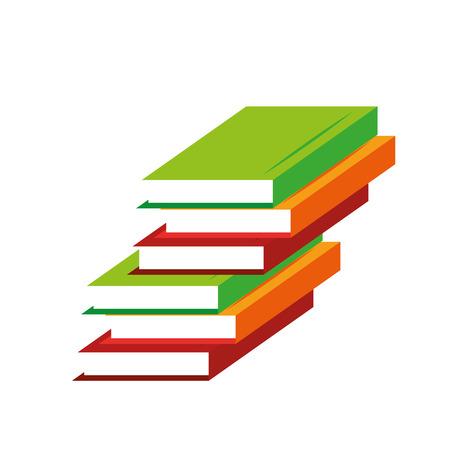 pile books: pile books learning education online vector illustration