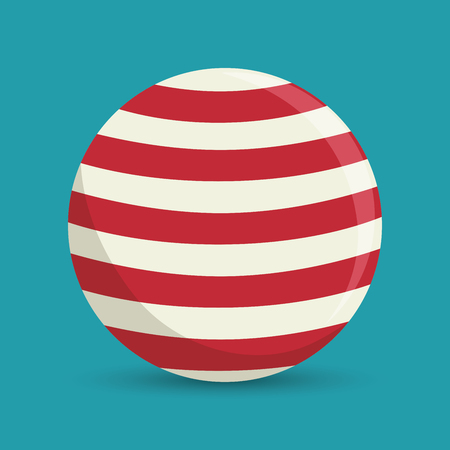 jugglery: sphere ball red and white circus icon vector illustration Illustration