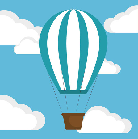 concepts and ideas: balloon success progress business vector illustration