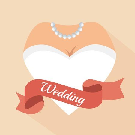 condones: formulario de carta corazón mujer de la boda ilustración vectorial eps 10