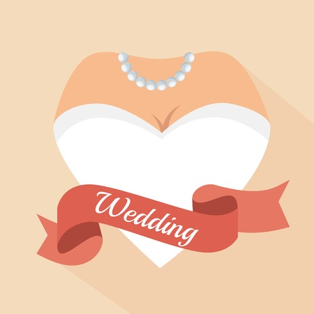 condoms: heart form woman letter wedding vector illustration eps 10