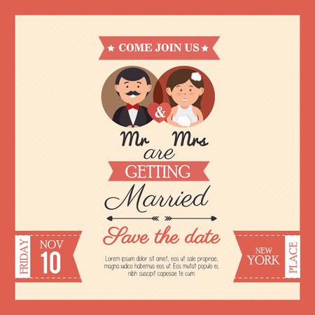 mr: wedding card mr mrs style vintage design, vector illustration  graphic
