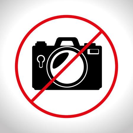 no photo camera prohibited design, vector illustration graphic