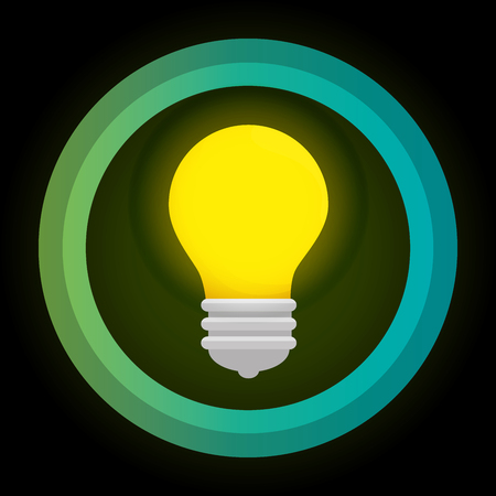 responsibility: green eco energy bulb concept vector illustration Illustration