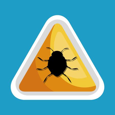 security data alert virus icon design vector illustration