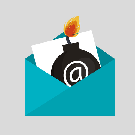 email bomb: security bomb email envelope icon