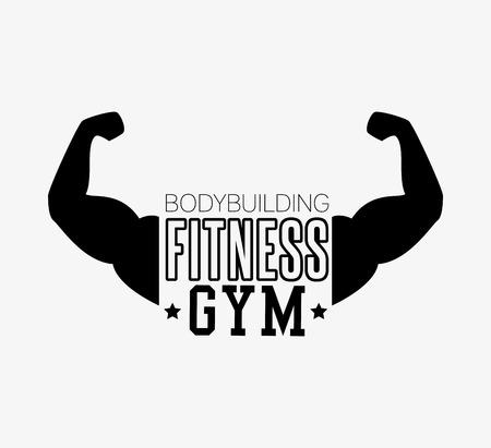 concept bodybuilding fitness arm gym vector illustration Illustration