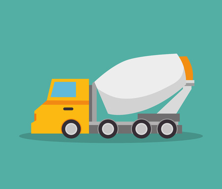 mixer truck construction icon design vector illustration