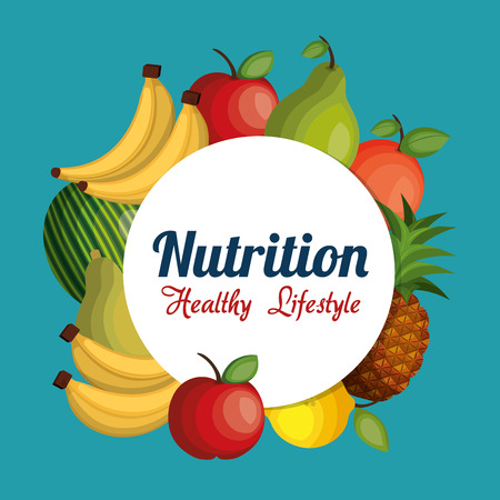 nutrition healthy food isolated icon vector illustration design Illustration