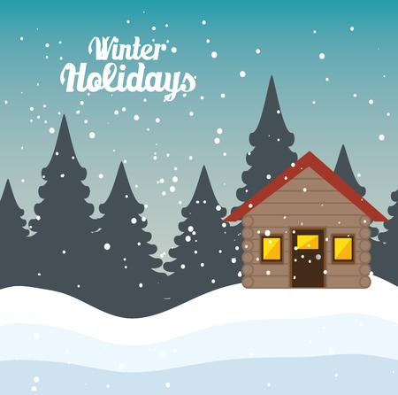 holidays: winter holidays season icon vector illustration design Illustration