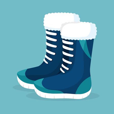winter season boots icon vector illustration design