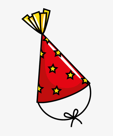birthday party: birthday celebration hat party vector illustration design