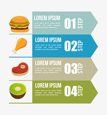 recommendations: nutritions infographic presentation icons vector illustration design Illustration