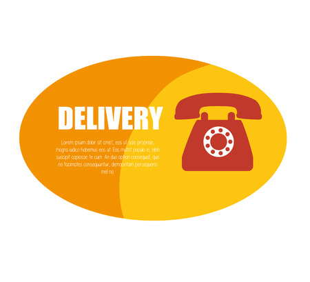 delivery service telephone design icon vector illustration