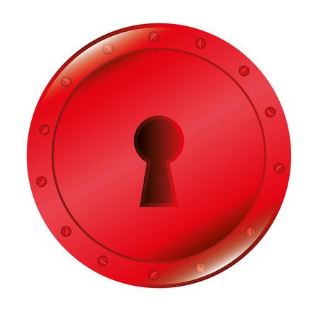 lock symbol: symbol lock love icon graphic vector illustration
