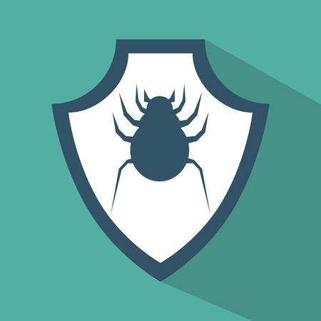 virus protection: virus protection data technology symbol vector illustration eps 10