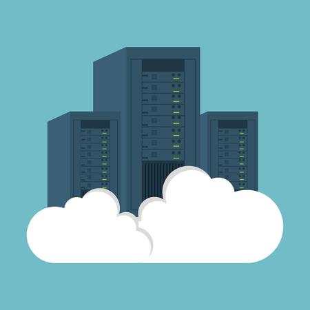 clouding: data center computer clouding vector illustration eps 10 Illustration