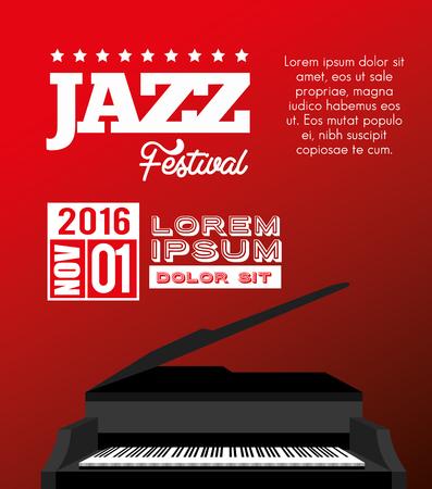 desing: festival jazz celebration music desing vector illustration Illustration