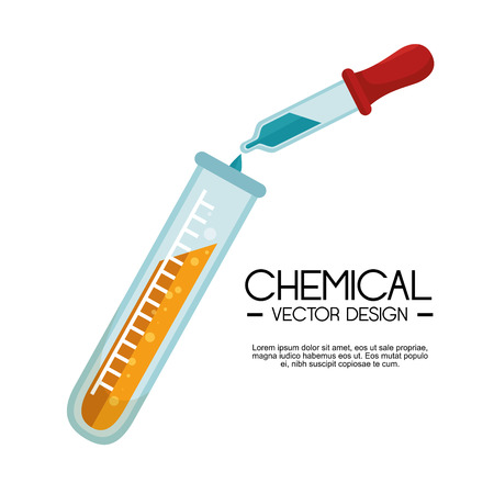 Prueba química tubo gotero ilustración vectorial líquido laboratorio Foto de archivo - 64379113