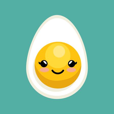 cute egg breakfast icon design vector illustratio