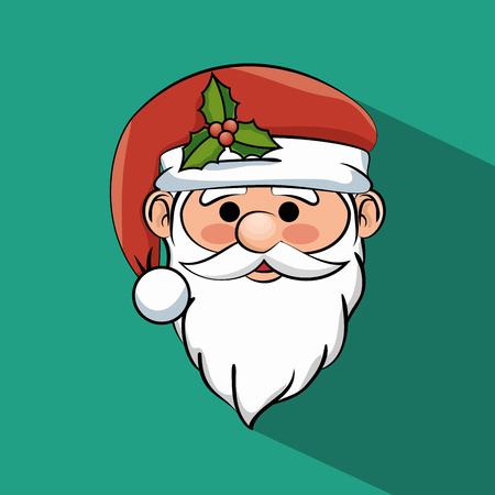 schönes Gesicht Santa Claus Symbol Vektor-Grafik-Darstellung