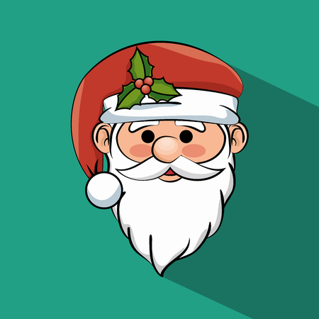 beautiful face santa claus icon graphic vector illustration Illustration