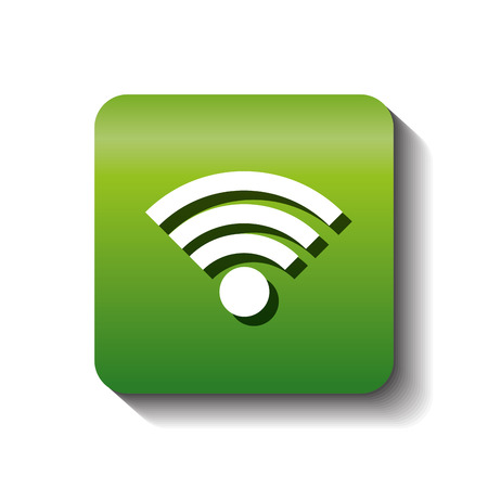 wifi connection sign isolated icon vector illustration design Illustration