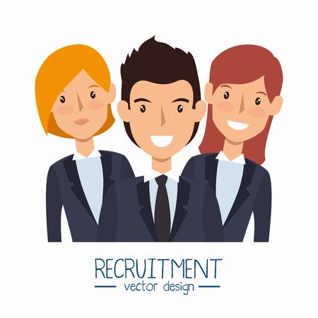 coworker: business people avatars group vector illustration design