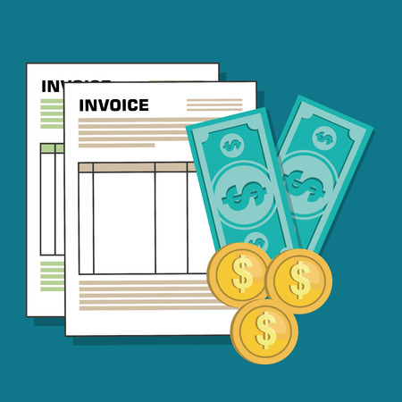 invoices: invoice document flat isolated icon vector illustration design
