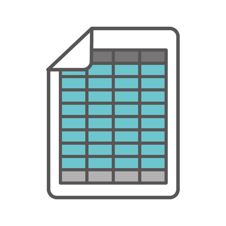 document file: document file format isolated icon vector illustration design