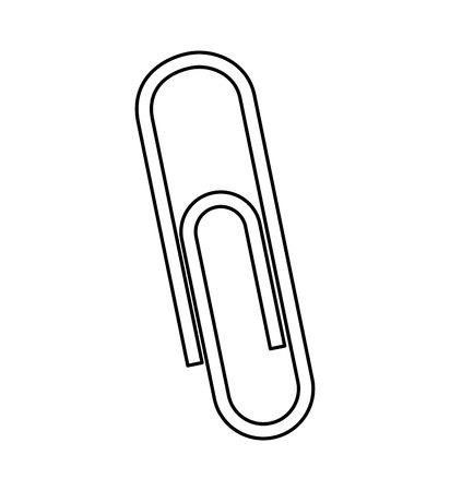 paper office: clip paper office equipment vector illustration design