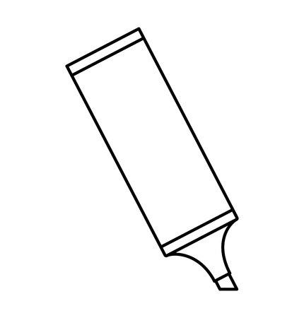 highlighter: highlighter pen isolated icon vector illustration design