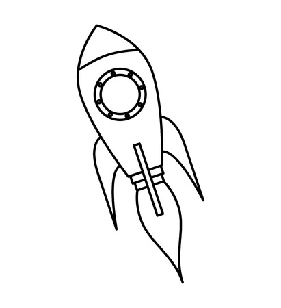 launcher: rocket launcher startup isolated icon vector illustration design Illustration