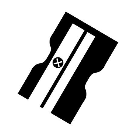 sacapuntas: suministro sacapuntas aislados icono de ilustración vectorial de diseño