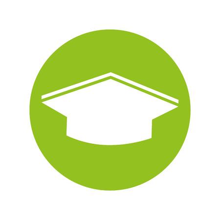 chapeau graduation icône isolé illustration vectorielle conception Vecteurs
