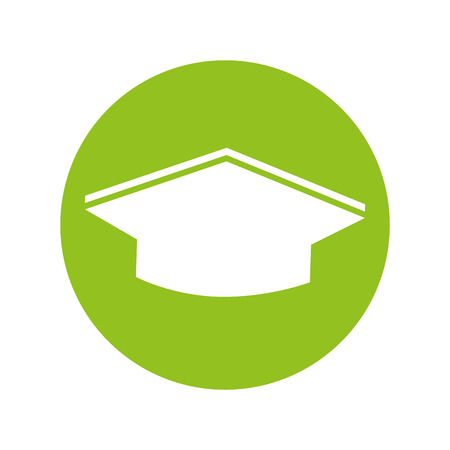 hat graduation isolated icon vector illustration design Ilustração Vetorial
