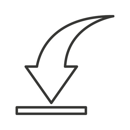downgrade: arrow download symbol isolated icon vector illustration design