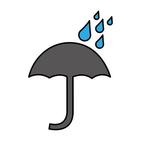 umbrella silhouette symbol isolated icon vector illustration design