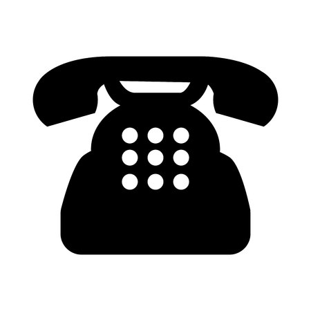 telephone: telephone service isolated icon vector illustration design Illustration