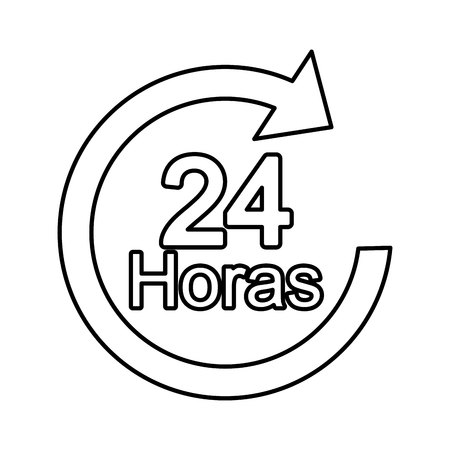 24: arrow 24 hours service vector illustration design Illustration