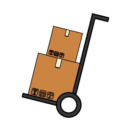 packing: carton box packing isolated icon vector illustration design Illustration