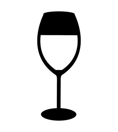 champagne cups: wine cup isolated icon vector illustration design Illustration