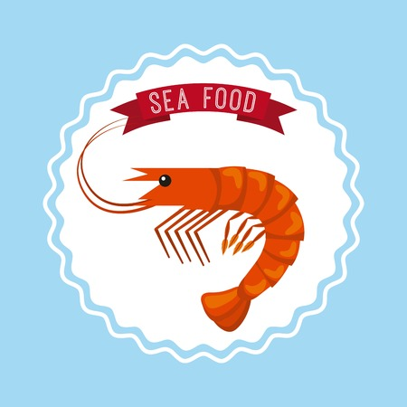 cooked meat: delicious seafood lobster animal vector illustration design
