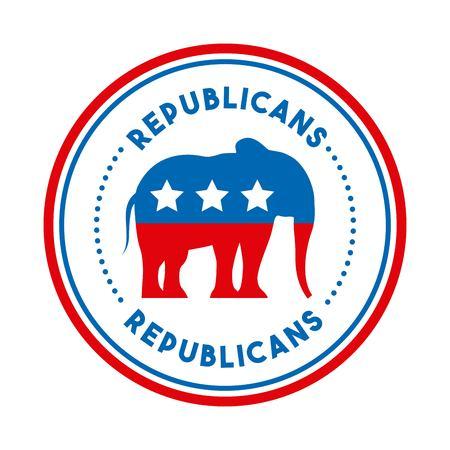 Républicain politique conception vecteur illustration party animal