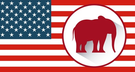 republican: Republican political party animal vector illustration design