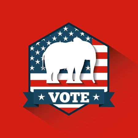 Republican political party animal vector illustration design