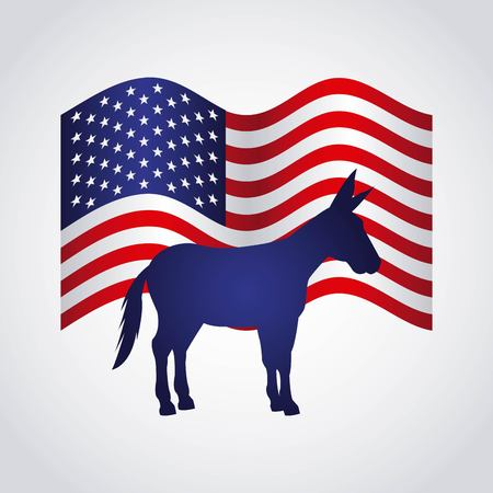 party animal: democrat political party animal vector illustration design