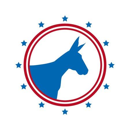 democrat: democrat political party animal vector illustration design