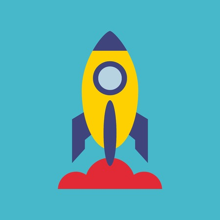 launcher: rocket launcher startup icon vector illustration design Illustration